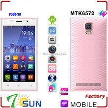 5.0 inch P500 Android Smartphone MTK6572 Unlocked AT&T Multi-langage WIFI android function mobile phone