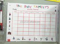 practial weekly planner type magnetic whiteboard stationary with customized arts and crafts from China