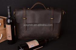 Customized brand real leather cowhide shoulder bag for men