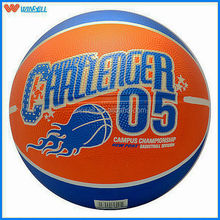 top sell training 14 panel quality rubber basketball