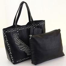 E901 import china goods big office lady fashion studded single strap bag