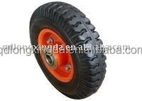 """solid wheelbarrows rubber wheel 10""""x2.5"""""""