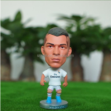 Football player figure toy;Ronaldo plastic football star figure; pvc custom football star figure for collcetion