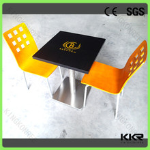 Modern design table and chair restaurant opportunity