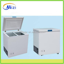 208L DC solar freezer with lock & key 12v 24v top sliding door chest freezer