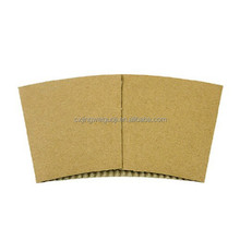 disposable custom printed kraft corrugated paper coffee cup sleeves