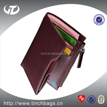 Custom design branded man genuine cow leather wallet