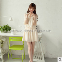 Summer Socialite seven minutes of sleeve small pure and fresh and chiffon dress