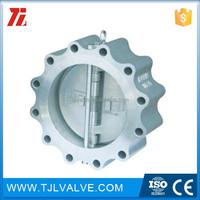 ansi150/pn10/pn16 wafer type api6d nozzle check valve ce certificate