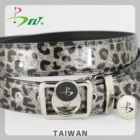 Ladies top chic leopard golf belt with ball marker