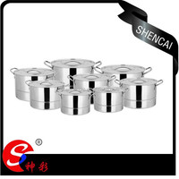 16 pcs Stainless Steel Steamer Pots with S/S lid/ Large Cooking pots