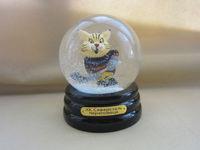 Cartoon figurine resin snow globe
