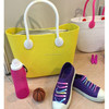 New arrival customized heavy duty drawatring transparent waterproof beach bag shopping clear pvc bag with zipper