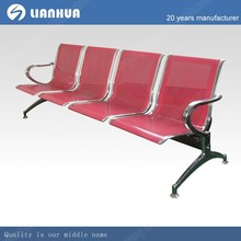 red 4-seater airport lounge waiting chair