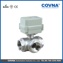 COVNA Brand Manufacturer Good Price 3-Way Stainless Steel Motorized Ball Valve