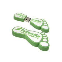 promotional lovely feet shaped pvc flash disk