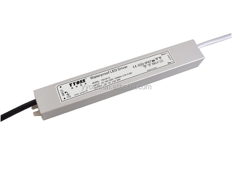 high efficiency and good quality 12V led power supply 30W constant voltage output(CE/ROHS approved)led bulb driver YSV-30-12