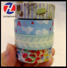 2015 New Arrived self adhesive customized printing unique craft paper roll sticker