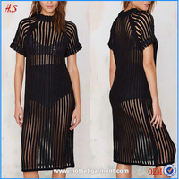 2015 Top selling sexy net ladies fashion model casual dresses china alibaba summer with pictures for girls