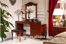 venta caliente de la fábrica directamente el último dormitorio americanos modernos muebles elegantes tocador con silla DR4001
