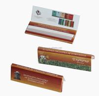 Regular size premium ultra thin fine 100% natural Arabic gum slow burning white rolling paper