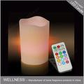 Multi- de color led de control remoto vela/de cumpleaños vela del led