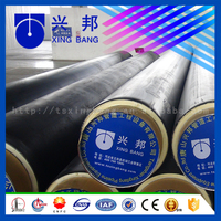 6inch insulated tube with rigid foam filled and iron outer casing for power plant waste heat supply