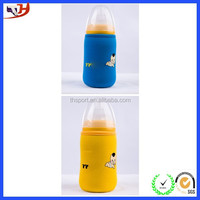 Promotional neoprene jacket beer bottle cover with zipper pull