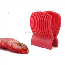 Red Tomato Holder Slicer Guide Potato/Onion Fruit Vegetable Cutter