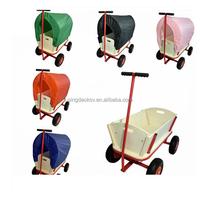 TC1812 Wooden Garden Cart with Four Wheels for Children