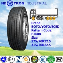 Wholesale 275/70R22.5 BOTO BT669 low price heavy duty off road back truck tyre