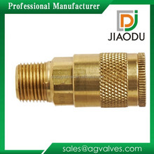 "Brass Air Chief Automotive Interchange Quick-Connect Air Hose Socket 1/4"" Coupler x 3/8"" NPT Male Thread 37 CFM Flow Rating"