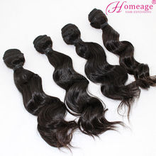Homeage factory price raw unprocessed wholesale virgin peruvian hair full cuticle wavy hair