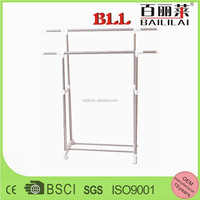 double rail extendable garment mobile stainless steel clothes drying hanger rack