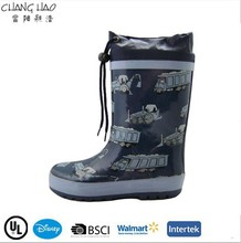 2015 New Design Oxford Style With Car Printing ,High Qulity Rubber Rain Boot For Boys