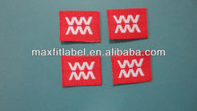 China direct factory wholesale satin woven label damask woven label clothing tags for underwears
