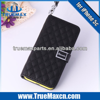 2014 High Quality Wholesale Price Colorful Leather wallet case for iPhone 5c