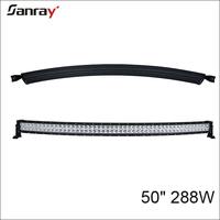 "4x4 Offroad curved led light bar car vehicles atv 50"" 288w curved led light bar"