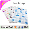 Yason plastic bag with window waterproof poly bags custom handle bag
