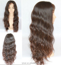 Loose Wavy Boday Wavy Indian Remy 100% Human Hair Full Lace Wigs/ Lace Front Wig