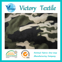 Polyester Camouflage Coral Fleece Fabric Heavyweight Fleece Fabric