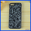 Black Color PC Mobile Phone Cover for iPhone 5 Leather Sticker Case,stone cover for iphone