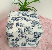 Good quality fabric stool square stoll wood frame inside stool