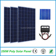 High efficiency 250W 260W 300W 310W poly solar panel price per watt