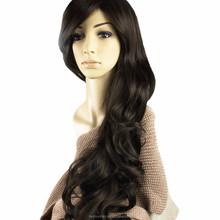 YILU New Women's Dark Brown Long Full Curly Wavy Glamour Hair Wig Fashion + MelodySusie Wig Cap + MelodySusieWig