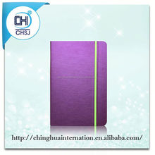 2015 newest special Purple leather tablet case for iPad air Notebook style