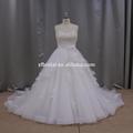 Tejido de tul de encaje apliques de marfil sin tirantes reciente más el vestido de boda grecia