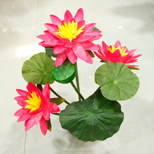 110 CM Tall Fake Water Lily Bonsai China Manufacturer Home Decor