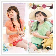 phelfish summer new models 13056 baby lace sleeveless vest kids T shirt wholesale brand children's clothing manufacturers
