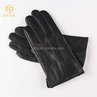 New Fashion Style Finger wrist Leather Gloves For Man